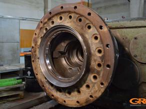 Ремонт бортового редуктора от экскаватора Хитачи (Hitachi)