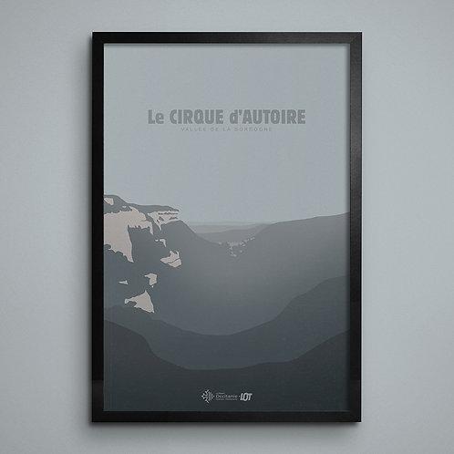 Affiche • Le Lot illustré • Cirque d'Autoire