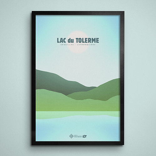 Affiche • Le Lot illustré • Lac du Tolerme II