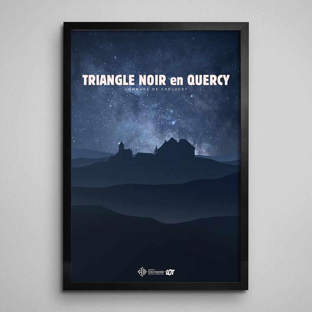 Les affiches tourisques du Lot • Carlucet • Le Triangle Noir du Quercy