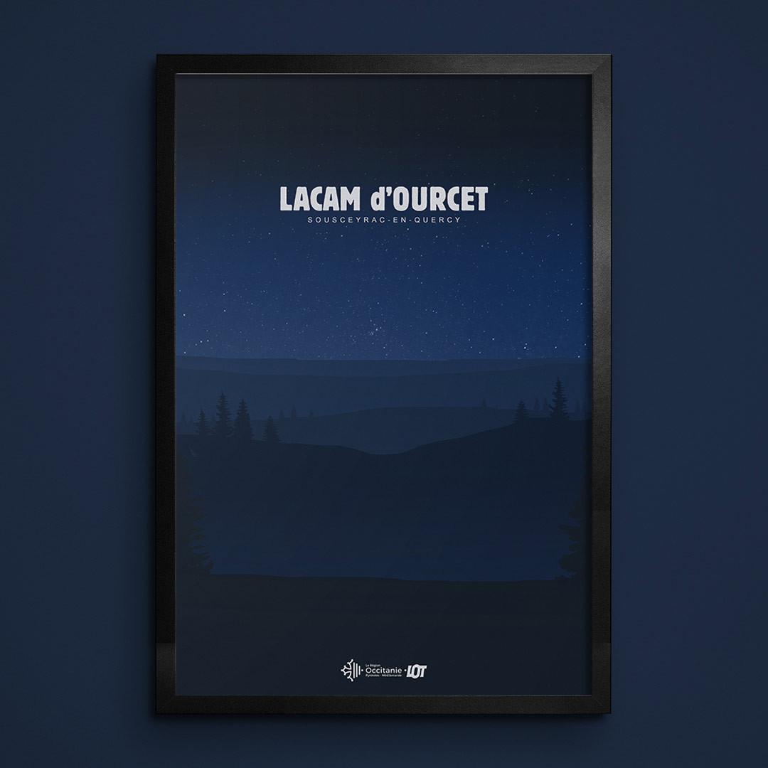 Les affiches tourisques du Lot • Lacam d'Ourcet