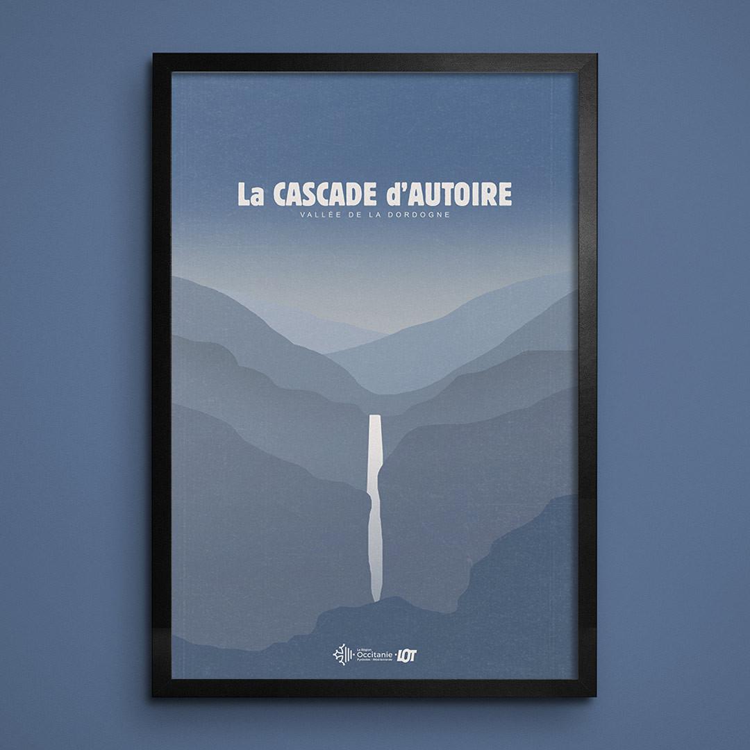 Les affiches tourisques du Lot • Cascade d'Autoire