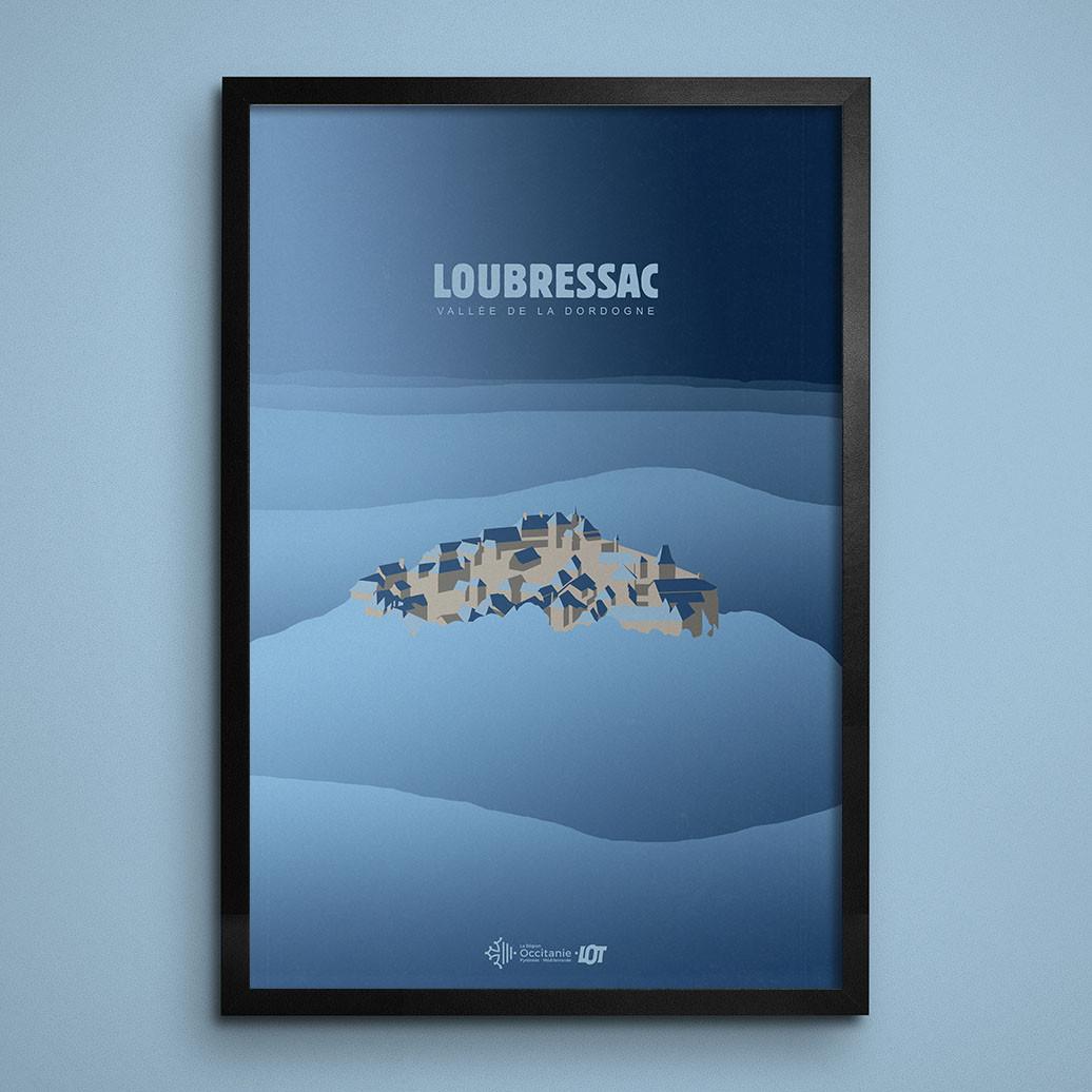 Les affiches tourisques du Lot • Loubressac