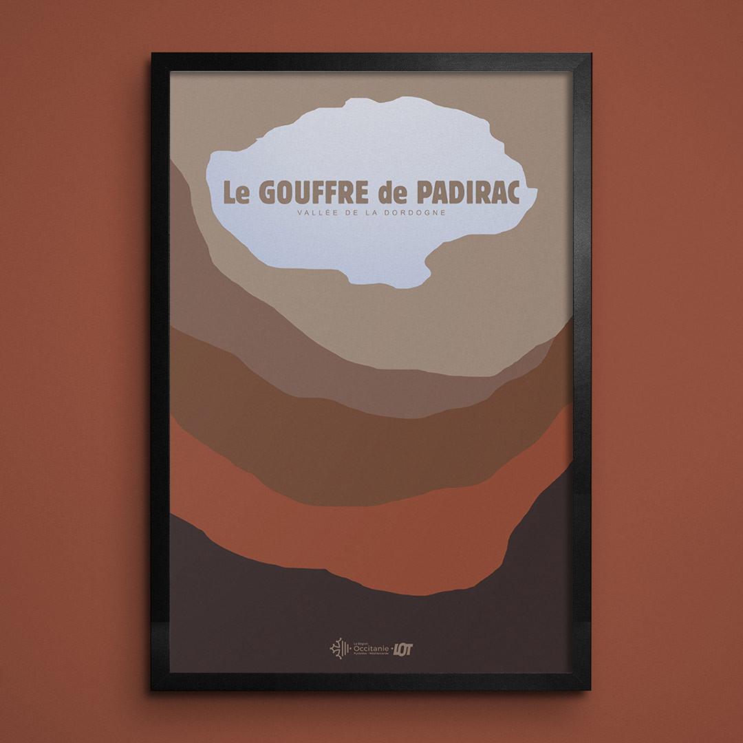 Les affiches tourisques du Lot • Padirac • Le Gouffre