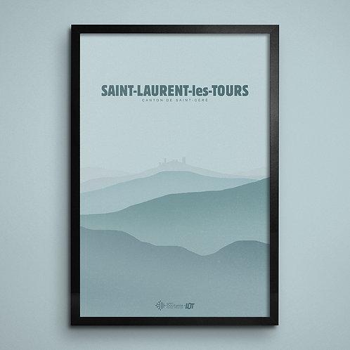Affiche • Le Lot illustré • Saint-Laurent-les-Tours III