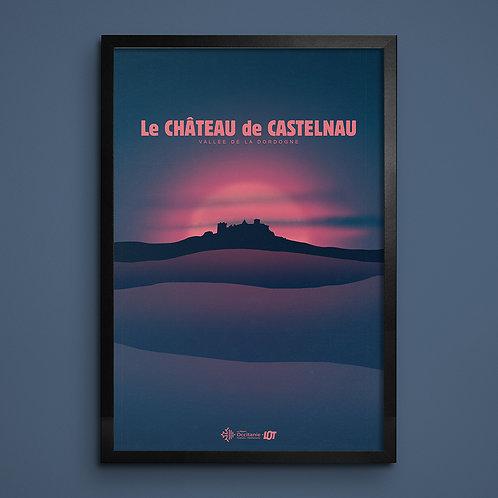 Affiche • Le Lot illustré • Château de Castelnau