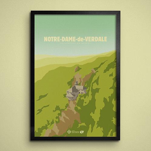 Affiche • Le Lot illustré • Notre-Dame-de-Verdale