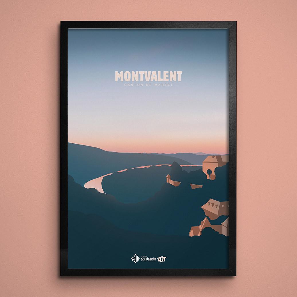 Les affiches tourisques du Lot • Montvalent