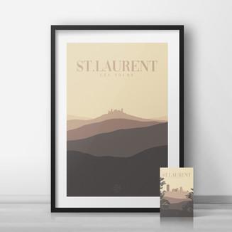 Affiche • Tourisme • Lot • Saint-Laurent