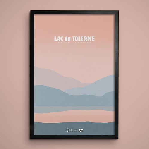 Affiche • Le Lot illustré • Lac du Tolerme
