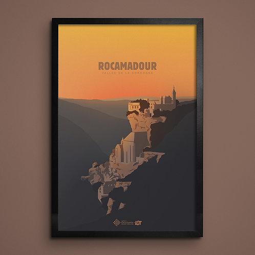 Affiche • Le Lot illustré • Rocamadour
