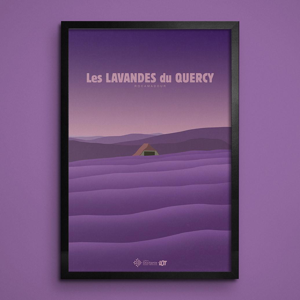 Les affiches tourisques du Lot • Rocamadour • Les Lavandes