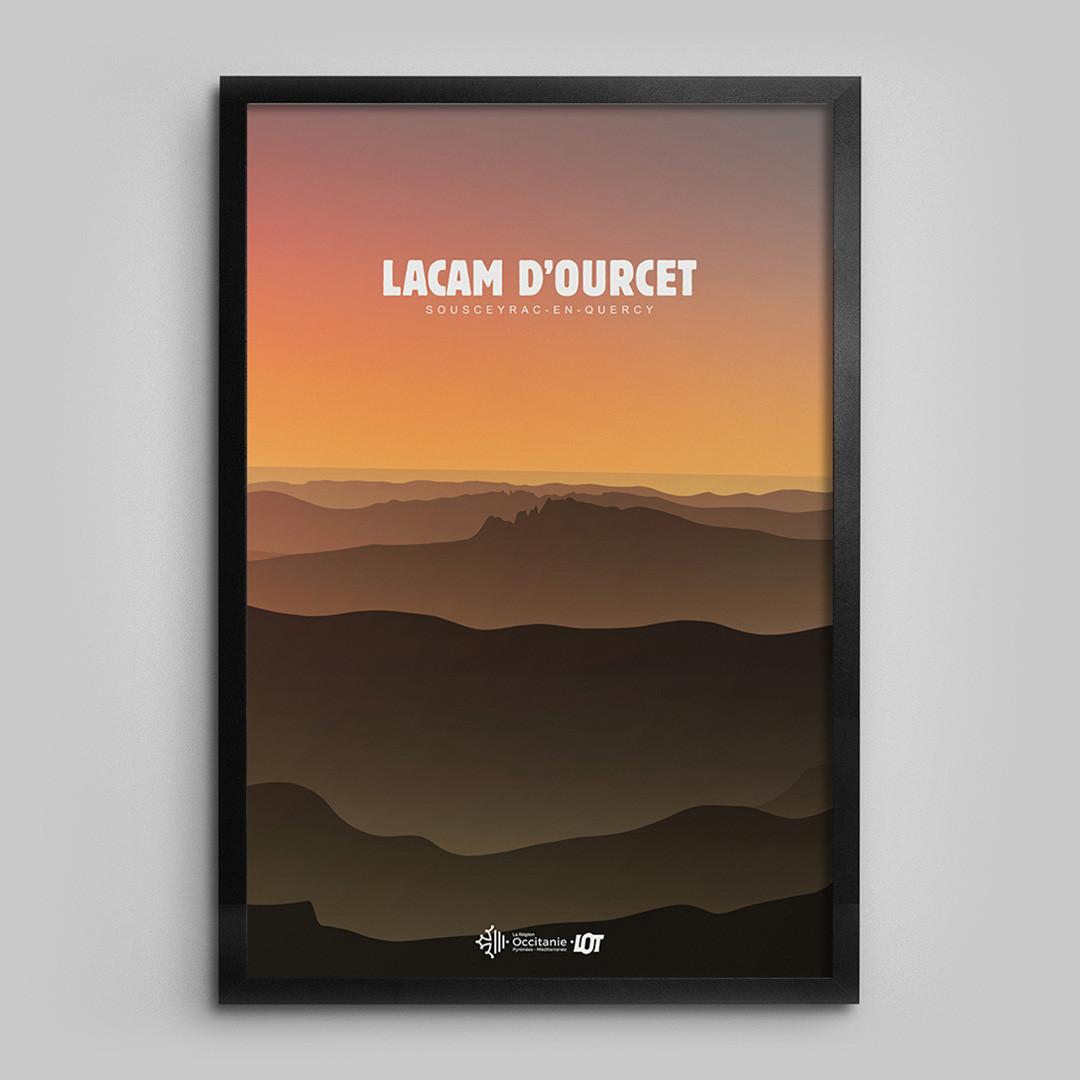 LO2.jpgLes affiches tourisques du Lot • Lacam d'Ourcet 2
