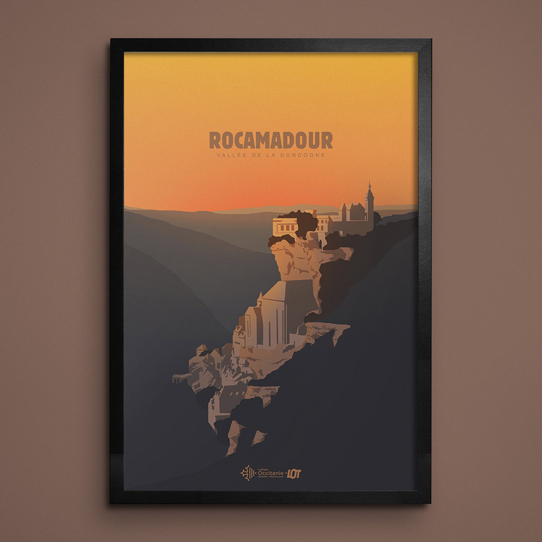 Les affiches tourisques du Lot • Rocamadour