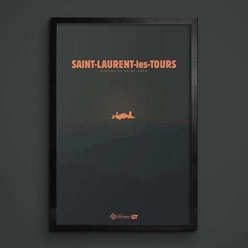 Affiche • Le Lot illustré • Saint-Laurent-les-Tours II
