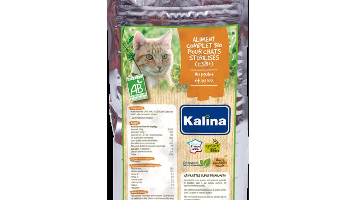 Aliment complet Bio pour chat stérilisé au poulet et au riz 3kg