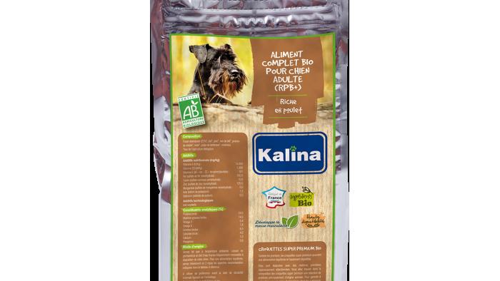 Aliment complet Bio pour chien adulte riche en poulet 4kg