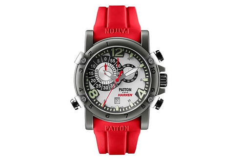 HARKEN silver dial - red rubber band