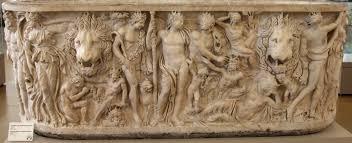 Dionysian scene on a 3rd-century AD sarcophagus
