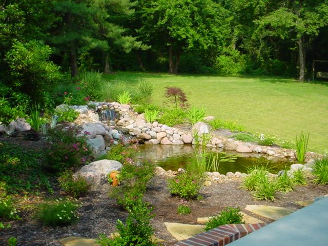 natural pond landscape lawrence ks