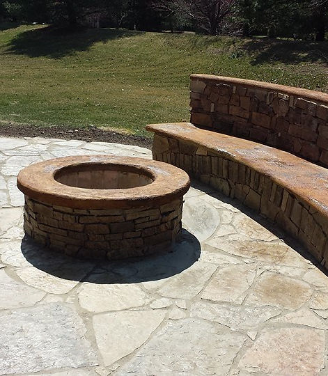 Landscape Stone Patio Kansas City