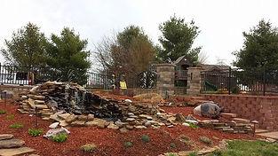 Water landscaping Lenexa Kansas