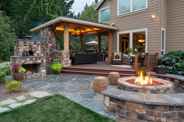 Landscape Structure Designs Outdoor Patios -Fireplace