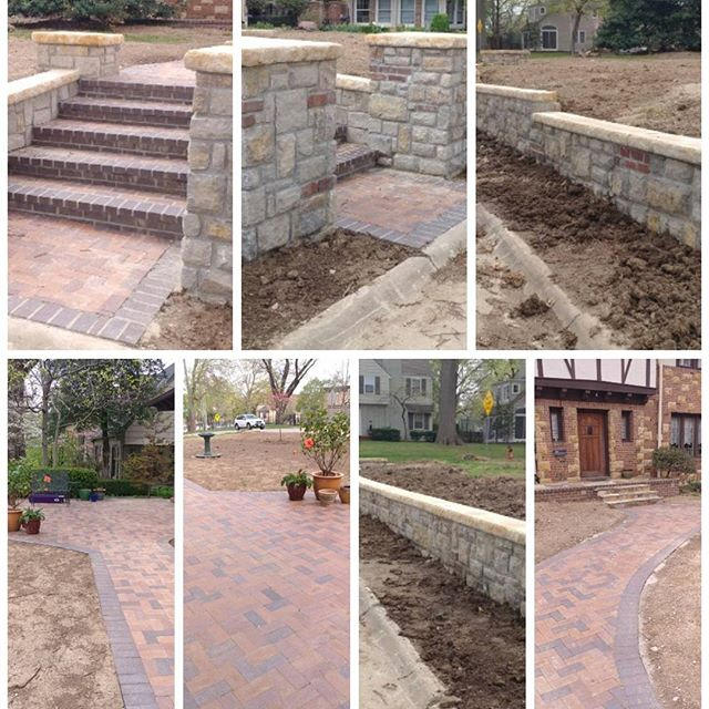 Patio designs of installation by the Masons Company Kansas City Masonry