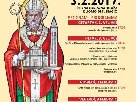 Održana proslava blagdana Sv. Blaža, zaštitnika Vodnjana - 03.02.2017.