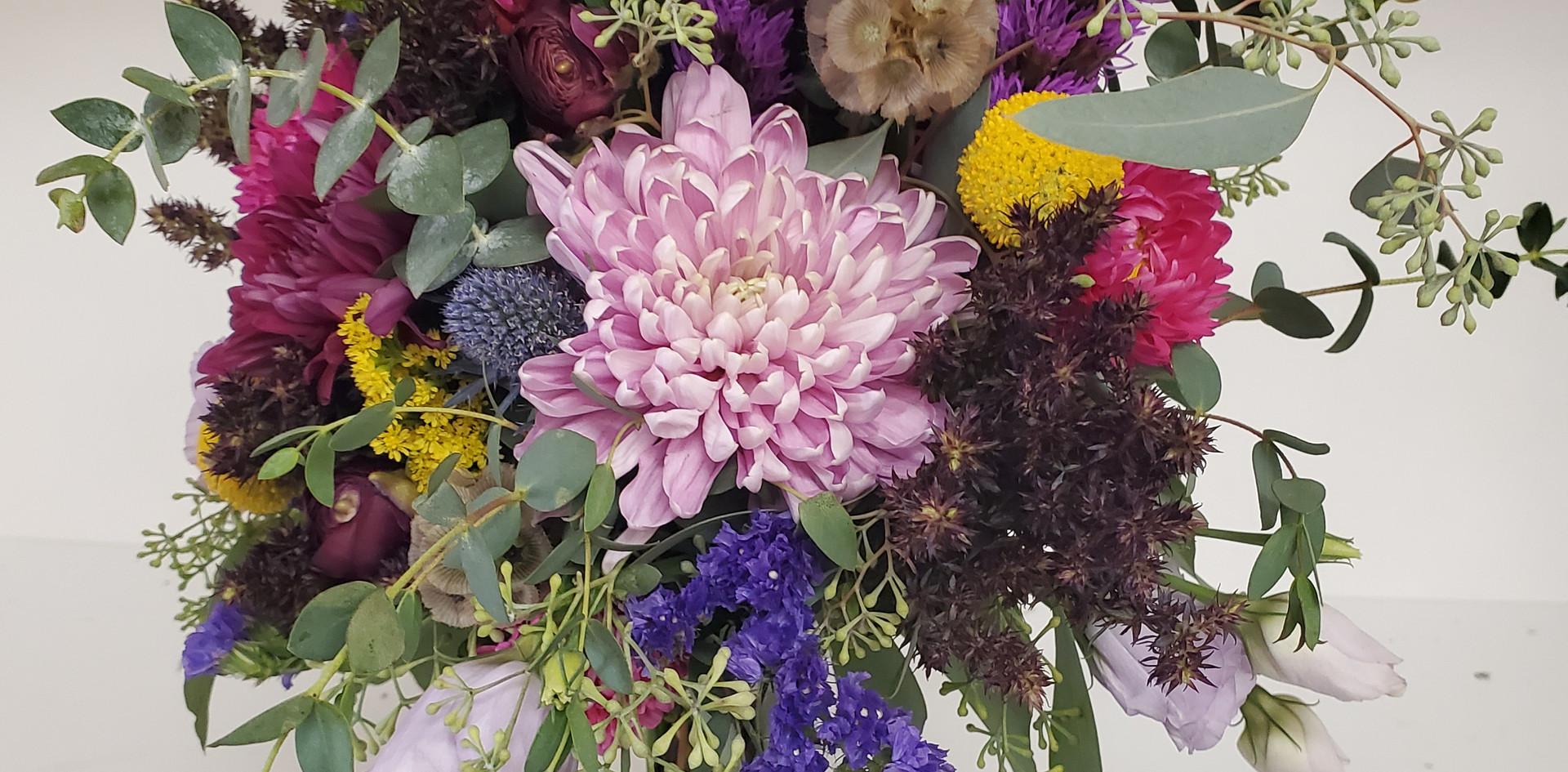 Fancy Pansy Bridesmaids Bouquets