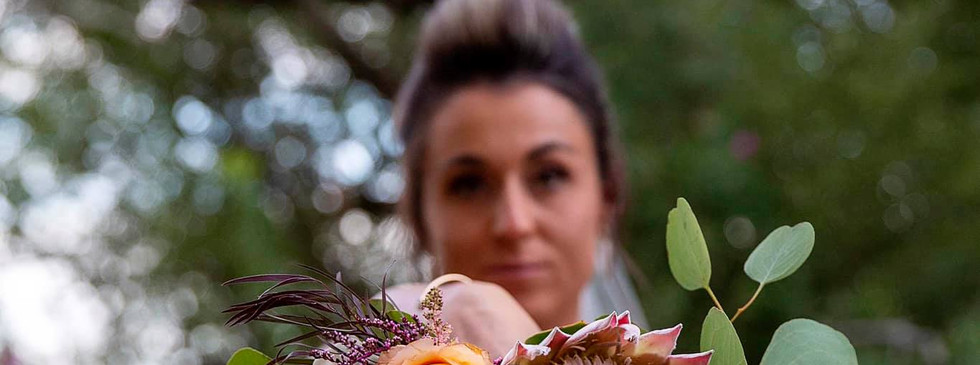 Fancy Pansy Bride Bouquet