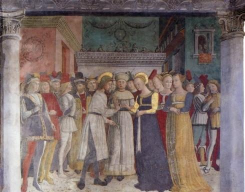 Sposalizio della Vergine, Giovan Pietro Da Cemmo - Convento dell'Annunciata, Piancogno (BS)