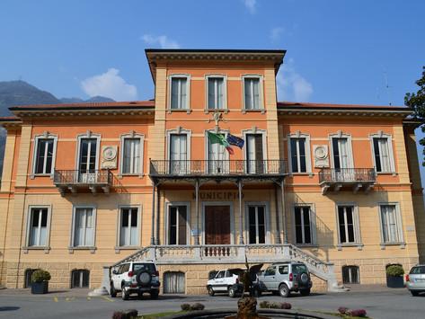 The fine mansion of Villa Ronchi in Breno