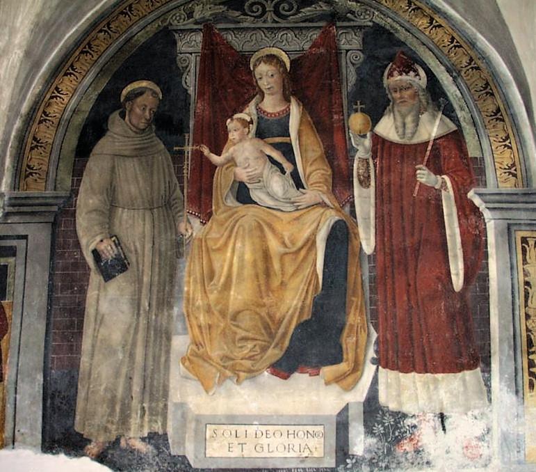 Sacra conversazione, Giovan pietro da Cemm - Bienno, Santa Maria Annunciata