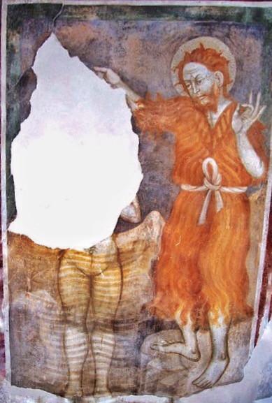 Cemmo San Siro, Battesimo di Cristo affresco