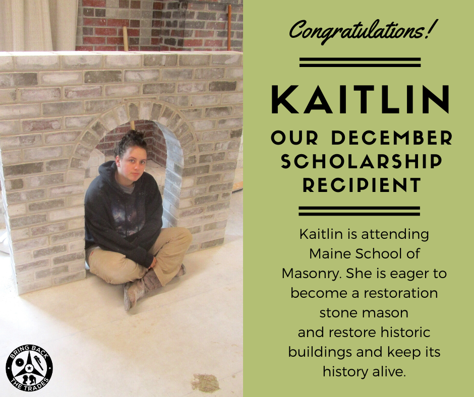 December 2019 Scholarship winner