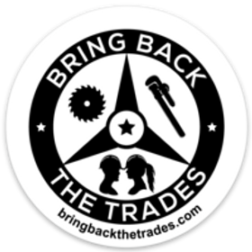 "3""x3"" Bring Back the Trades sticker"