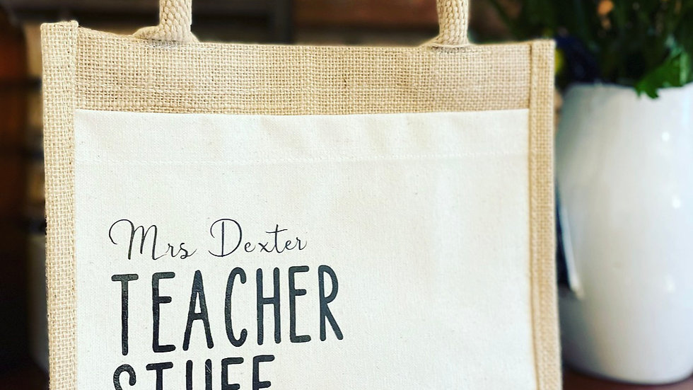 Personalised Teacher bag gift set