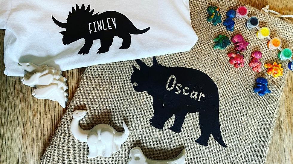 The dinosaur gift set