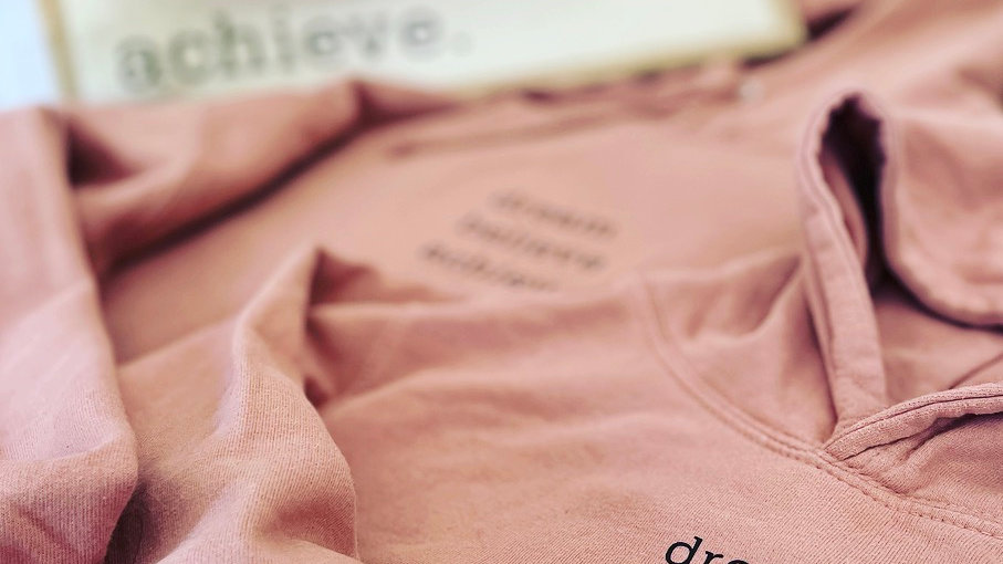 Dream believe achieve hoodie (kids)