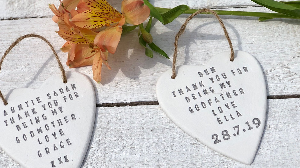 Personalised godparents gift