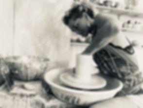 tournage d'un vase Carole Meyer