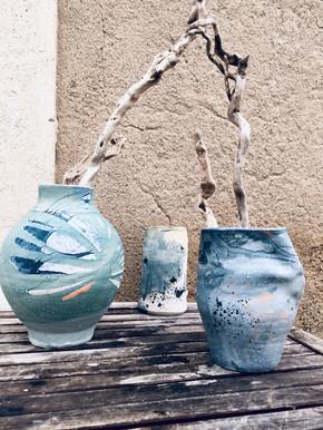 Vase organique en grès