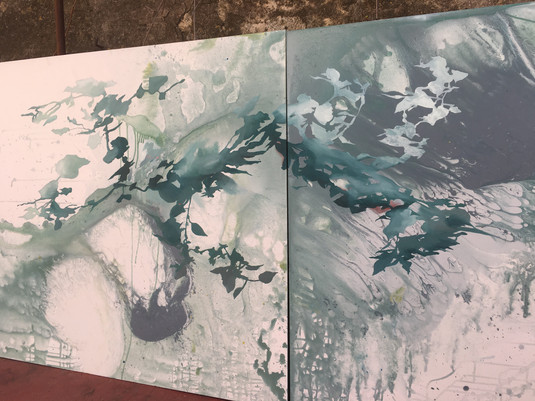 """Détail Triptyque """"Ikebana"""""""
