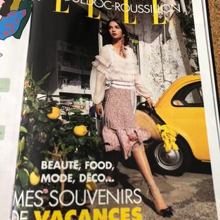 """Parution dans le magazine """"ELLE """""""