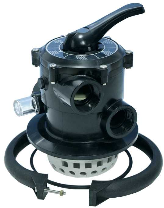 "Top selector valve 1,5""- Black"