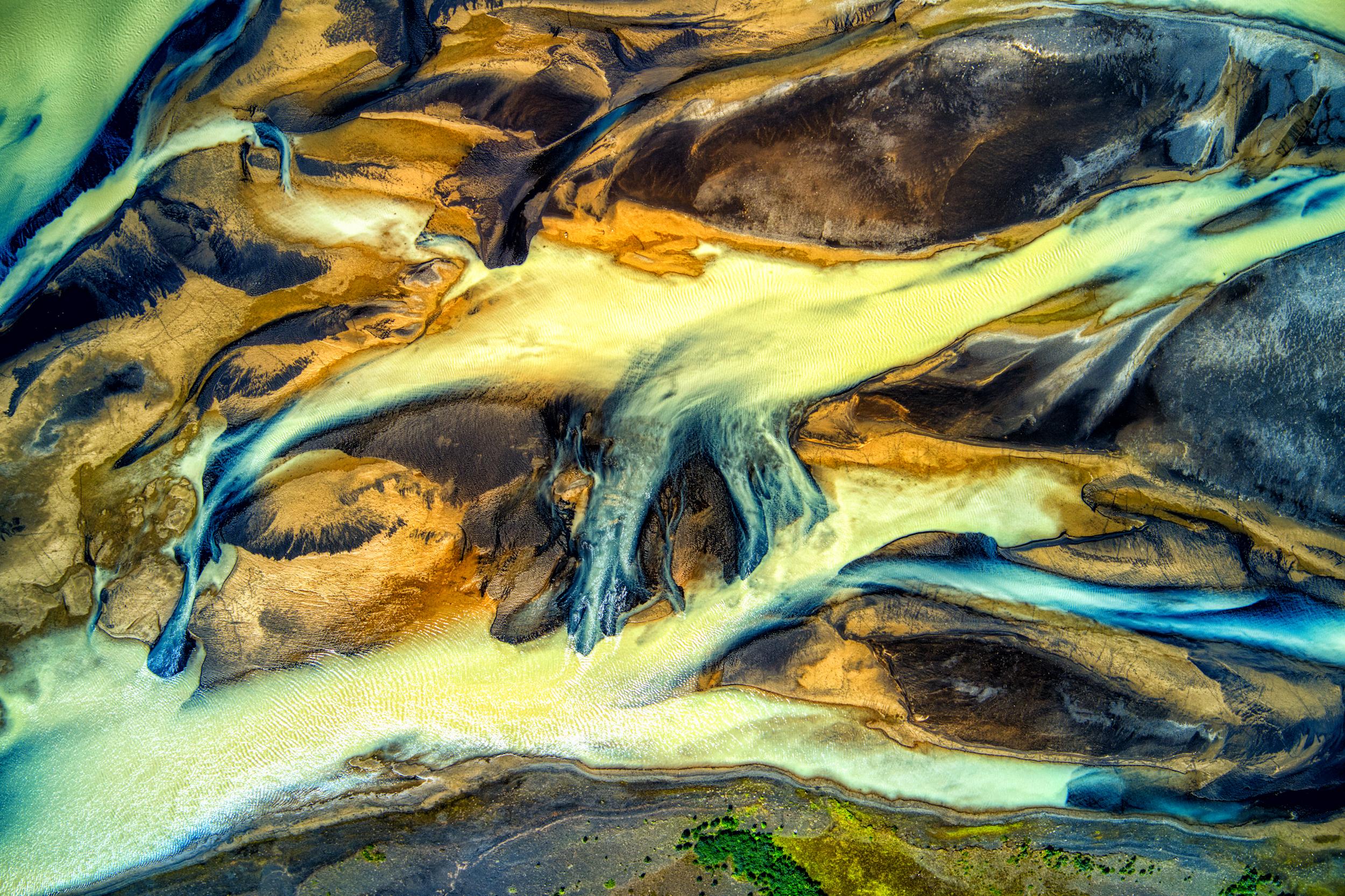 Icelandic river art – Þjórsá