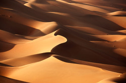 hills and valleys of sand