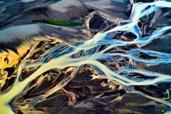 Icelandic river art – Seljalandsá