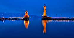 blue hour in Lindau